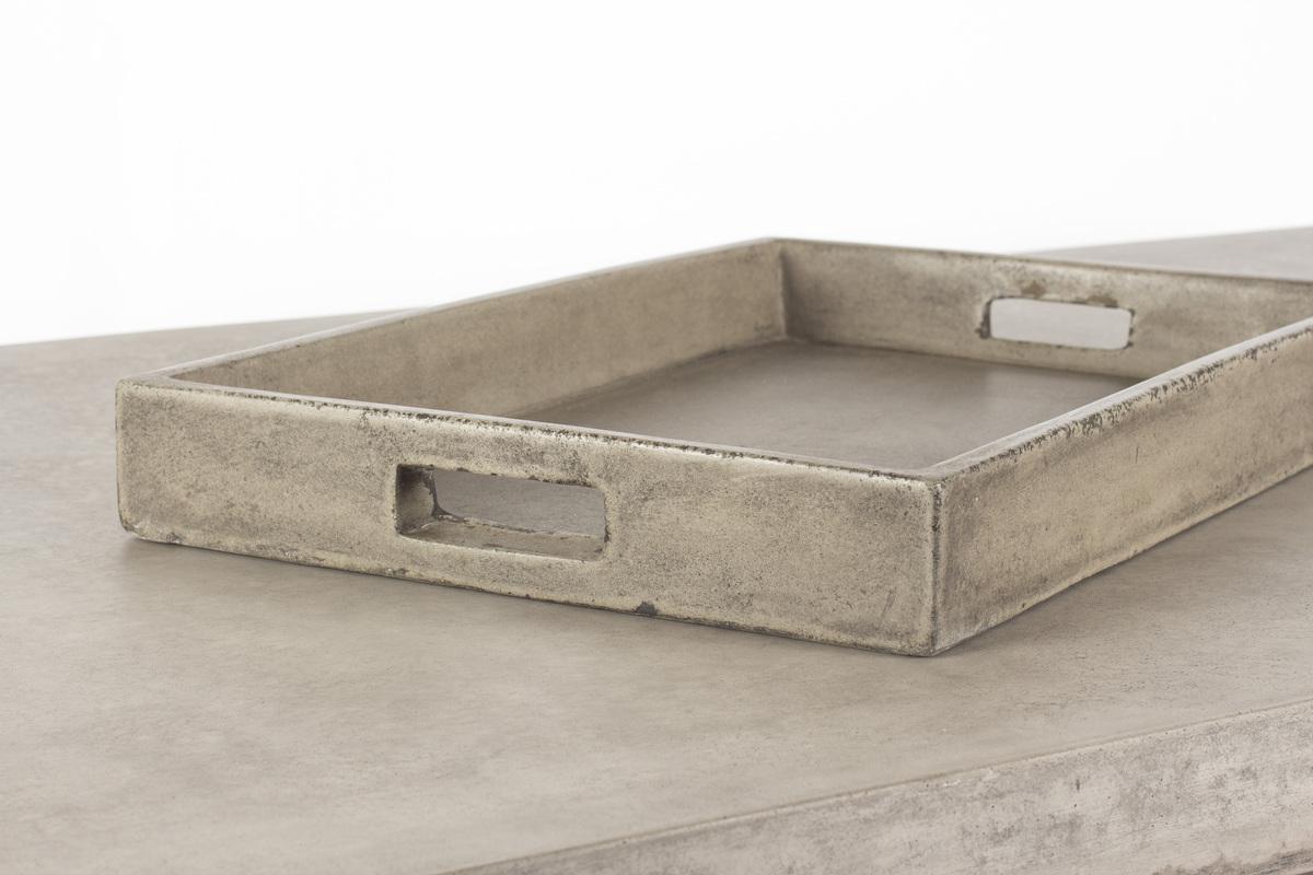 rundt betong hagebord